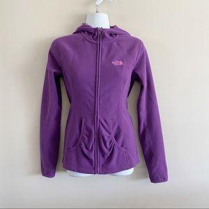 Northface hooded purple fleece  jacket